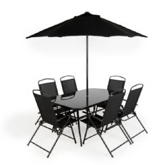Greenfingers Siena 6 Seater Dining Set with Parasol