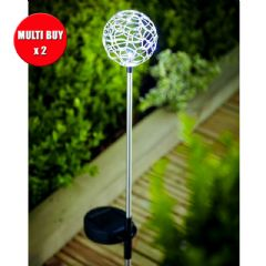 Cole and Bright Solar Wire stake light - Twin Pack