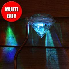Greenfingers Solar Diamante Stake Lights - 8 Pack Multi Buy