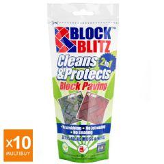 Image of 10x Multibuy - Block Blitz Block Paving Path and Patio Cleaner 380g packs