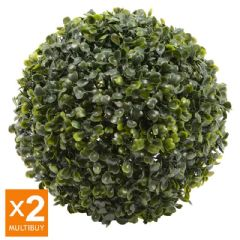 Image of Ellister Boxwood Topiary Ball 26cm - Pack of 2