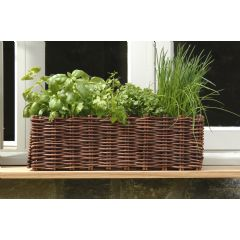 Image of Burgon & Ball Natural Willow Window Box Planter