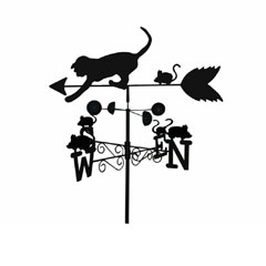 Garden Nation Cat and Mouse Weathervane
