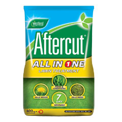 Image of Aftercut All-In-One Lawn Feed Weed & Moss Killer 400m²
