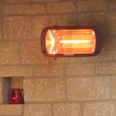 La Hacienda Heatmaster Royal Outdoor Electric Patio Heater - 1300W