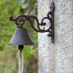 La Hacienda Cast Iron Ornate Door Bell
