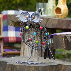 La Hacienda Beaded Perching Owl