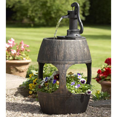 Gablemere Barrel Water Feature and Planter