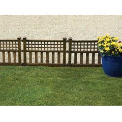 Greenhurst Bronze Fence Panels - 4 Pack