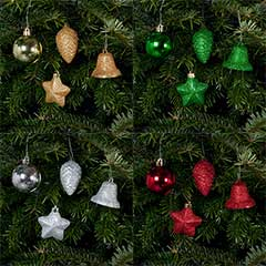 Festive Assorted Christmas Decorations Set of 25