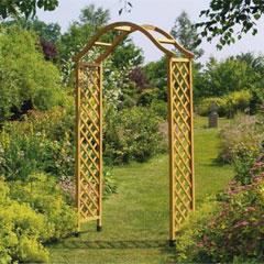 Gardman Elegance FSC Wooden Arch - Tan