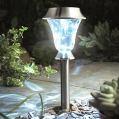 Gardman Solar Post & Table Light - Stainless Steel