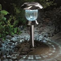 Gardman Solar Post & Table Light - Black Nickel