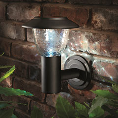 Cole and Bright Solar Traditional  Wall Light - Matt Black