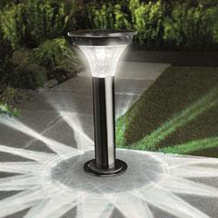 Gardman Motion Sensor Black Nickel Post Light
