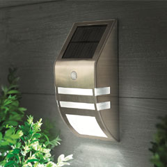 Cole and Bright Motion Sensor Stainless Steel Security Wall Light
