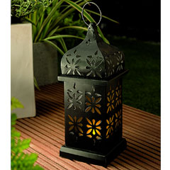 Cole and Bright Solar Eastern Candle Lantern - 37cm Height