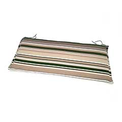 Greenfingers 2 Seater Bench Cushion - Green Stripe 110cm