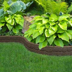 Recycled Rubber Edging Flexi Curve Rockwall 1.22m - 9cm Height