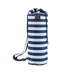 Nautical Stripe Breton Picnic Blanket in Duffle Bag
