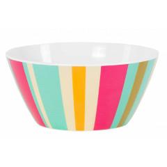 Navigate HotHouse Stripe Melamine Dessert Bowl