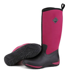 Muck Boots Ladies Arctic Adventure Wellingtons - Black/Maroon