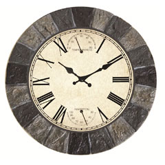 Briers Malborough Clock & Weather Station 25cm