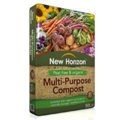New Horizon Organic and Peat-Free Multi-Purpose Compost - 50L