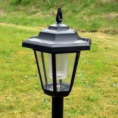 Verdigris Solar Post Light - 90cm Height