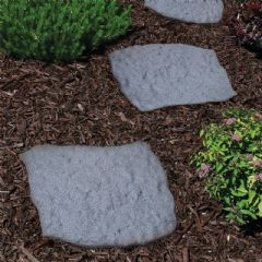 Greenfingers Recycled Rubber Stepping Stone - Grey