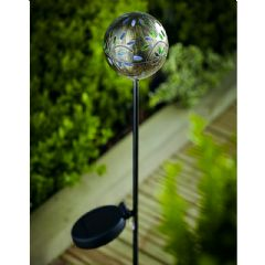 Cole and Bright Solar Global Filigree Stake Light - 81.5cm Height