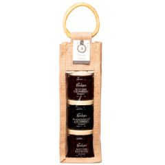 Mrs Bridges Preserves Selection Triple Jars in Jute Bag