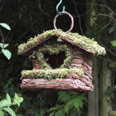 Bush Wood Nesting Box with Love Heart Opening