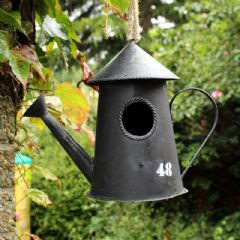 Metal Watering Can Hanging Bird House