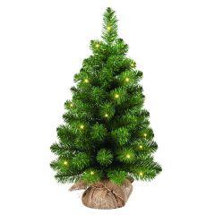 Gardman Mini Artificial Pre-Lit Christmas Tree - 60cm Height