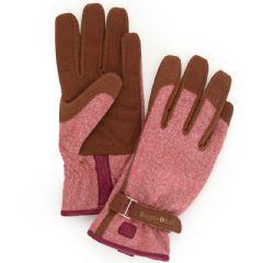 Burgon and Ball Red Tweed Gardening Gloves - M/L