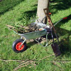 Kingfisher Galvanised Steel Wheelbarrow - 65Ltr