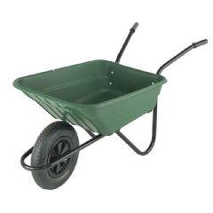 Walsall Wheelbarrow Multipurpose Barrow with Pneumatic Wheel - 90L Green