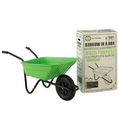 Walsall Wheelbarrow Multipurpose Barrow with Pneumatic Wheel - 90L Lime