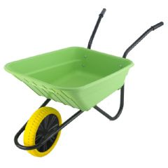 Walsall Wheelbarrow Multipurpose Barrow with Puncture Proof Wheel - 90L Lime