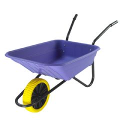 Walsall Wheelbarrow Multipurpose Barrow with Puncture Proof Wheel - 90L Lilac