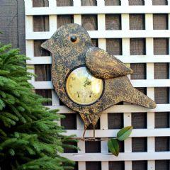 Embossed Effect Bird Clock