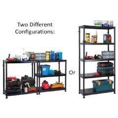 Garland Plastic Shelving Unit Dual Solution - 184cm Height