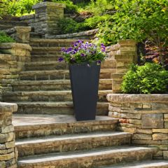 Sonata Square Slate Planter - 71cm Height