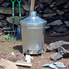 Galvanised Incinerator - 67cm Height