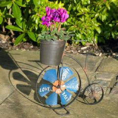 Penny Farthing Planter with Wind Spinner - 31.5cm Width