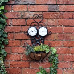 Clock and Thermometer Planter - 54cm Height