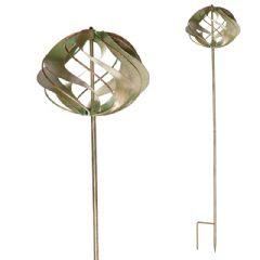 Ellister Verdigris Wind Spinner Ball - 90cm Height