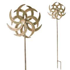 Ellister Verdigris Flower Wind Spinner