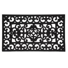 Ellister Rubber Cast iron Design doormat - 45x75cm